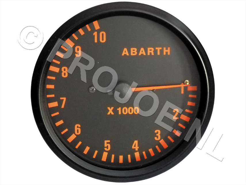Abarth RPM gauge 100mm