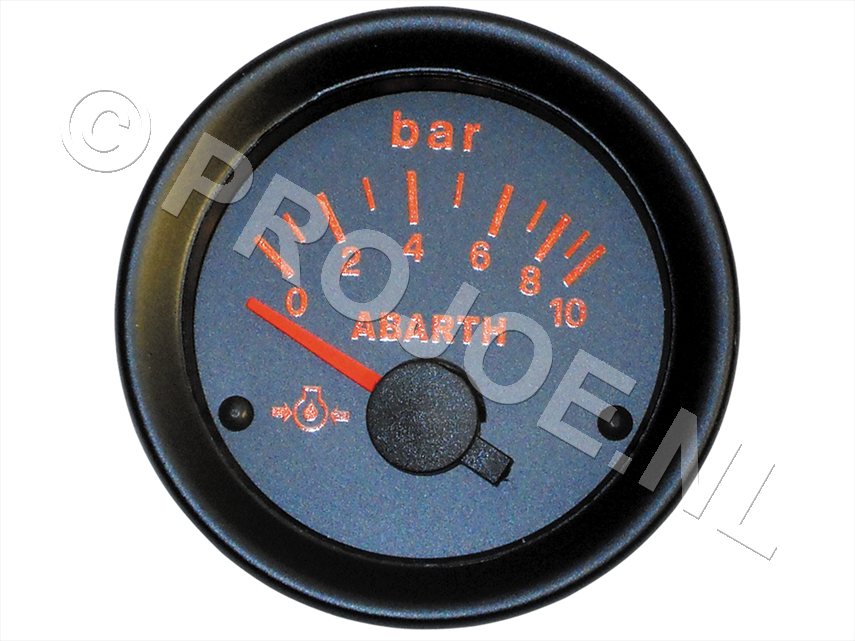 Abarth oil pressure gauge 52mm