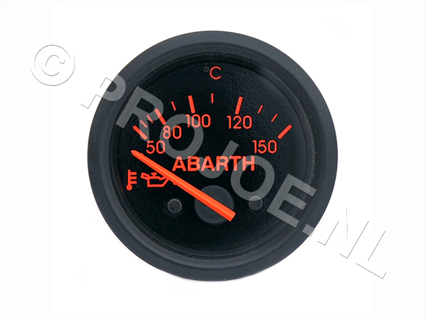 Abarth oil pressure gauge