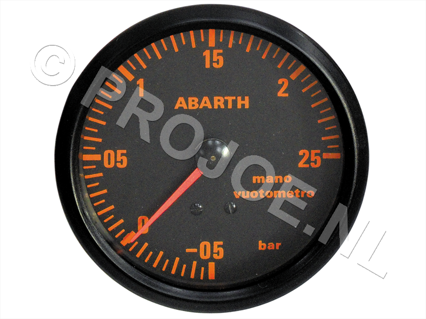 Abarth turbo gauge - manometer 80-mm