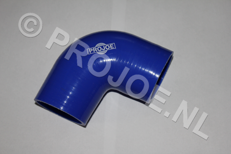 Silicone 90 degree elbow- blue