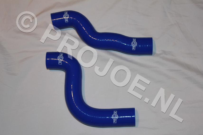 Silicone radiator cooling hoses - blue