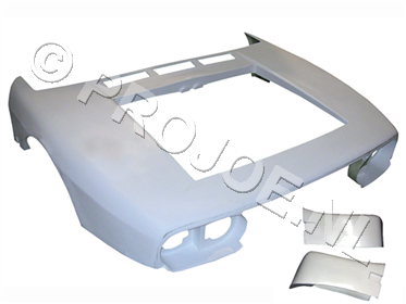 polyester and kevlar bodyparts for the Lancia 037