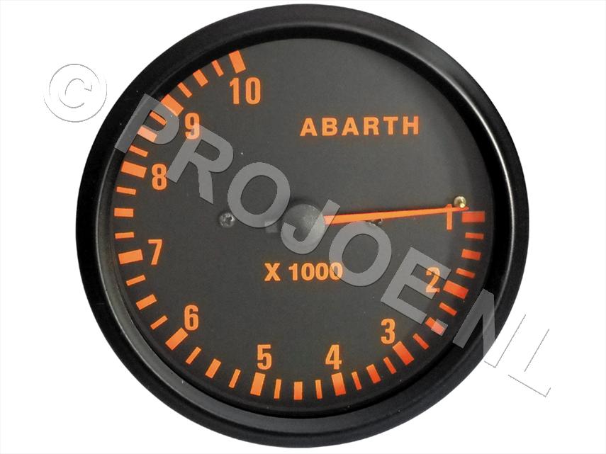 Abarth RPM gauge 100mm