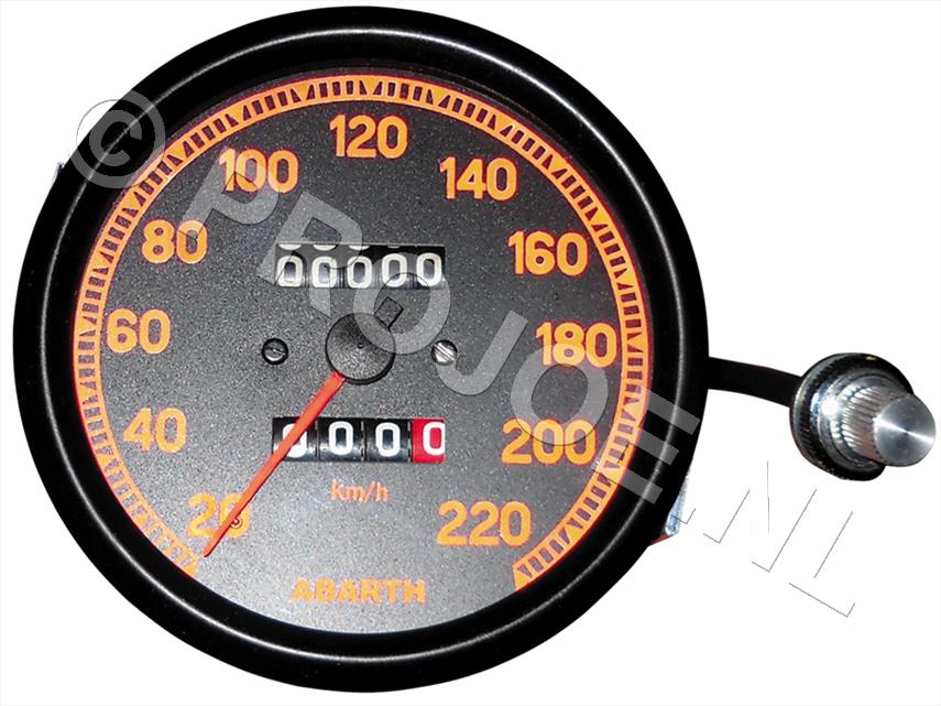 Abarth speedo meter