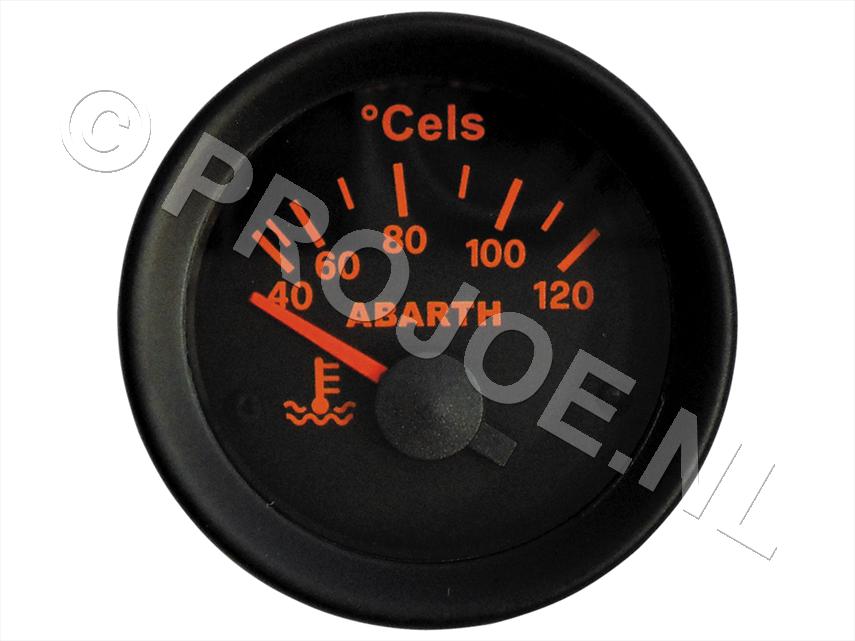 Abarth water temp gauge 52mm