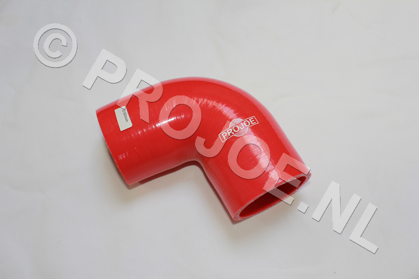 Silicone 90 degree elbow- red