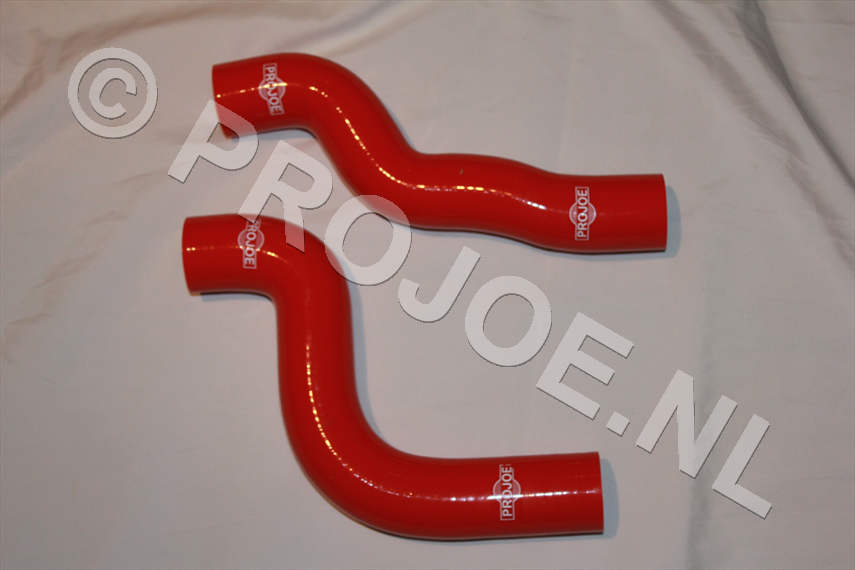 Silicone radiator cooling hoses - red