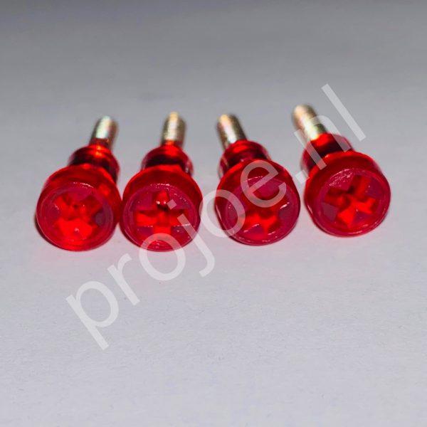 Lancia Delta Integrale rear light screws – red