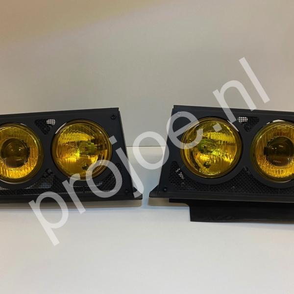 Lancia Delta Integrale Evo yellow Hella headlights