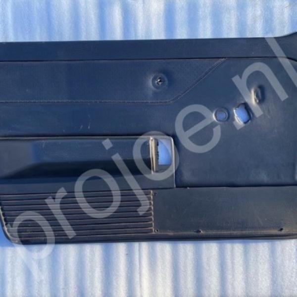 Left front side black leather doorpanel