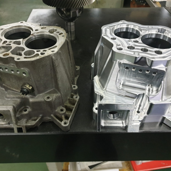 Lancia Delta Integrale forged CNC machined gearbox housing