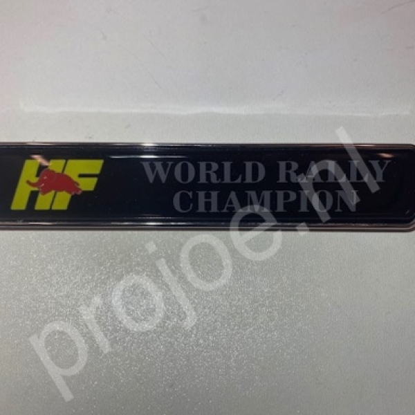 Lancia Delta Integrale World Rally Champion badge – emblem