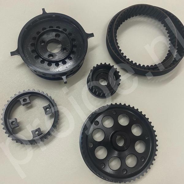 GrA Abarth Lancia Delta Integrale alternator/ pws and waterpump belt gear wheel set