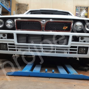 Lancia Delta Evo front mounted intercooler, XXL radiator and oil cooler set